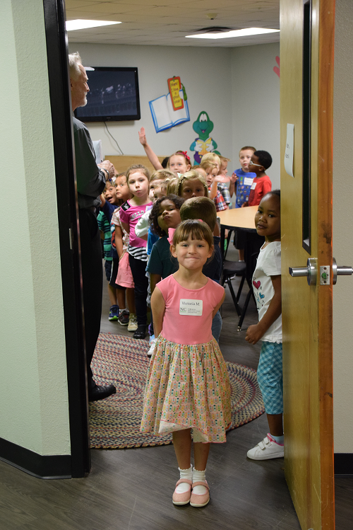 Kindergartens exiting room