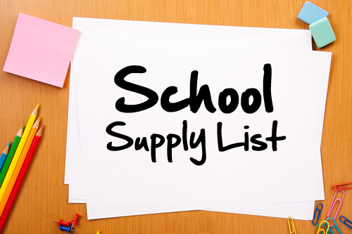 School Supply List SY 2020-2021